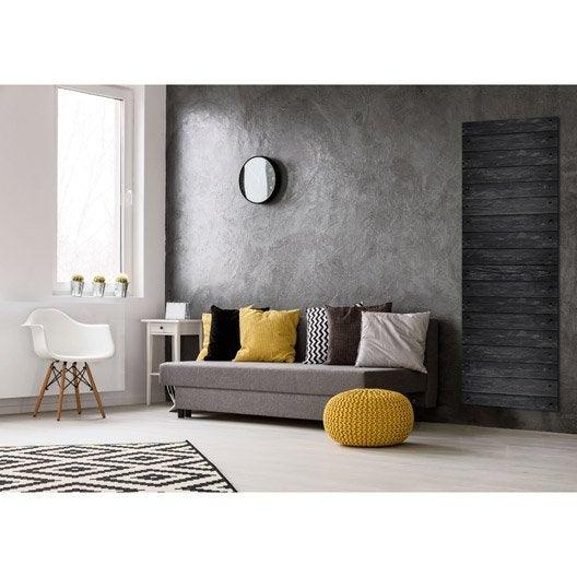 radiateur lectrique rayonnement decowatt parquet ebene 1100 w leroy merlin. Black Bedroom Furniture Sets. Home Design Ideas