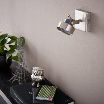 Spot patère LED intégrée led, 1, acier Poros INSPIRE