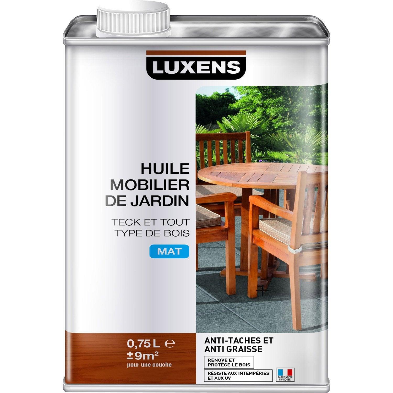 Huile LUXENS Huile mobilier de jardin 0.75 l, gris | Leroy Merlin