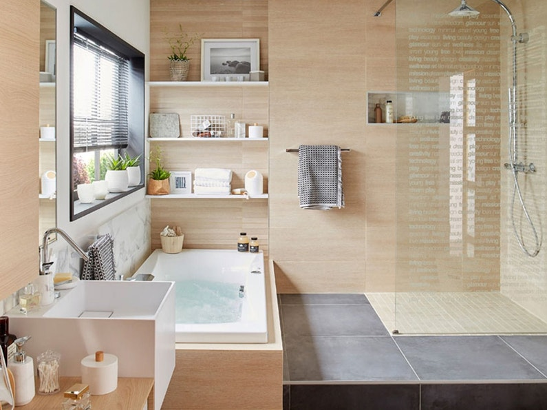 baignoire baln o spa et sauna salle de bains leroy merlin. Black Bedroom Furniture Sets. Home Design Ideas