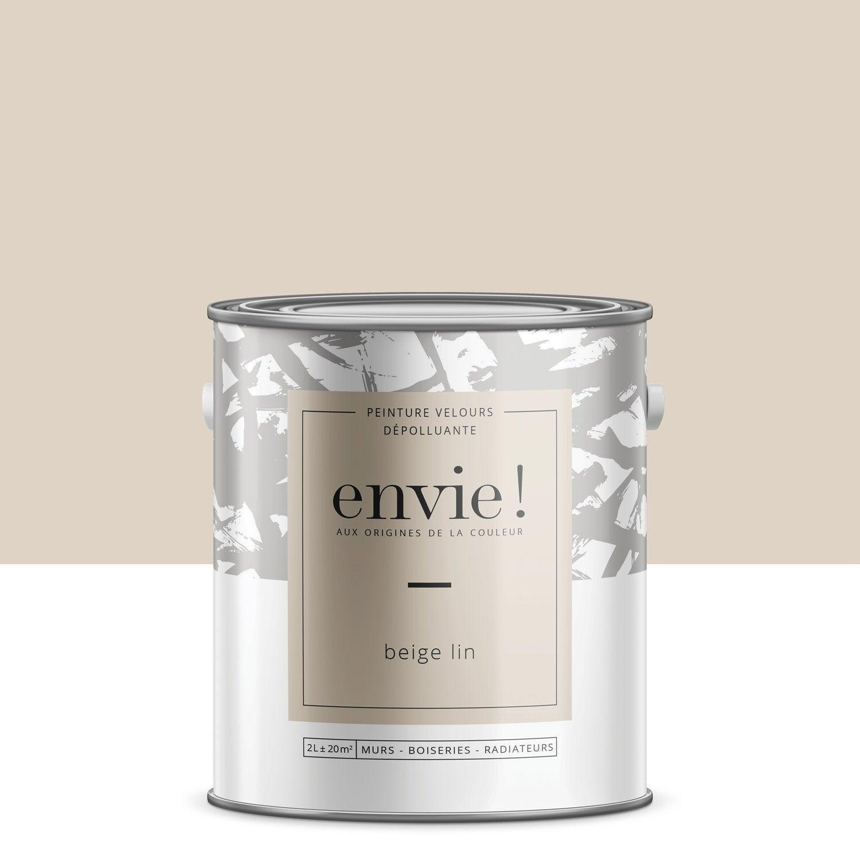 Peinture dépolluante mur, boiserie, radiateur ENVIE beige lin velours 2 l