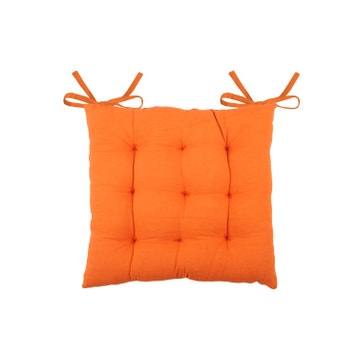 Galette De Chaise Jute Orange L40 X H5 Cm
