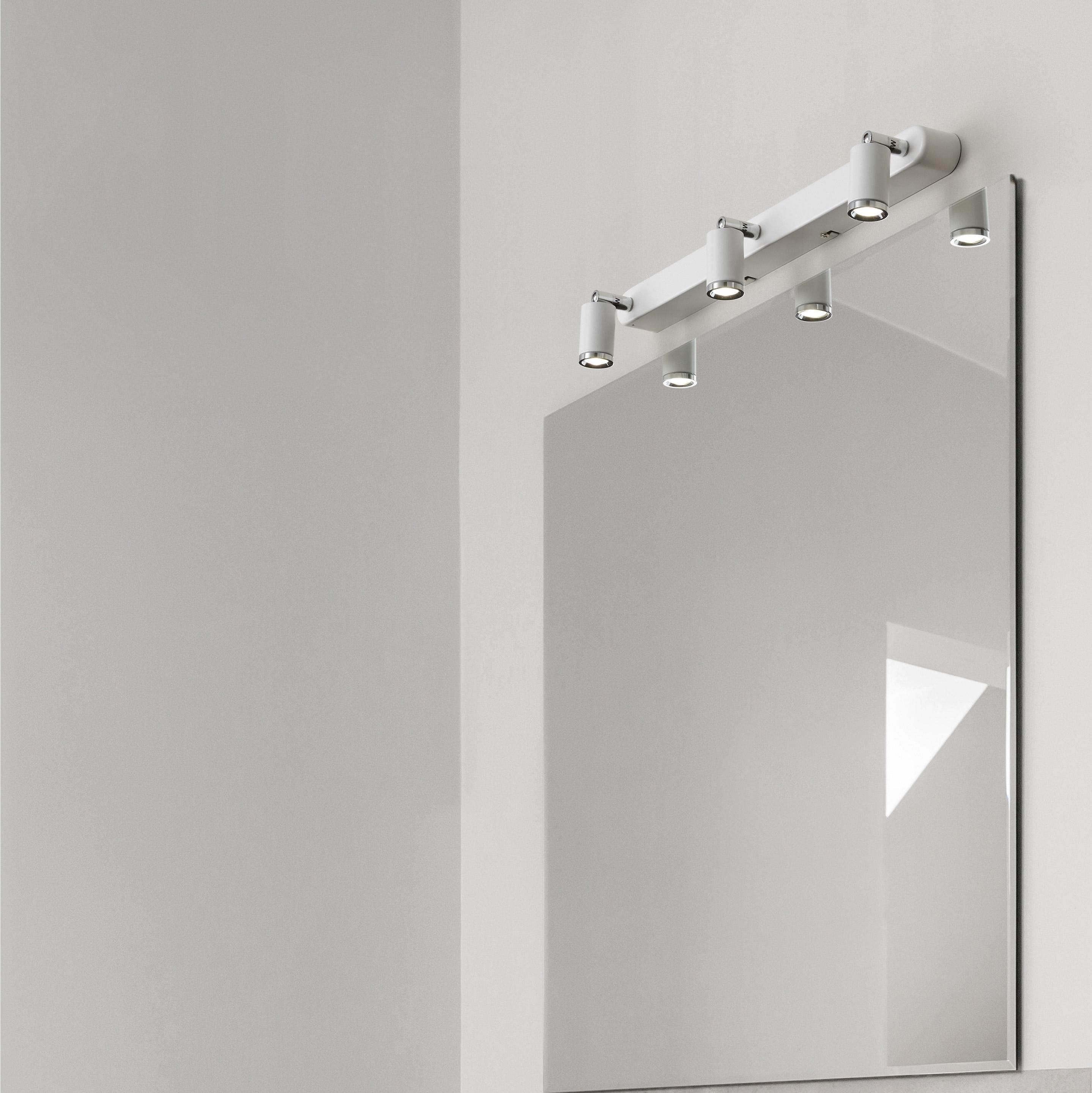Rampe 3 spots led intégrée, industriel, métal, LUMIPLUS Tivoli