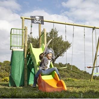 balan oire maisonnette trampoline toboggan leroy merlin. Black Bedroom Furniture Sets. Home Design Ideas