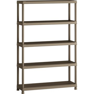 Etag re en r sine 5 tablettes spaceo h181xl120xp40 cm - Rail etagere leroy merlin ...