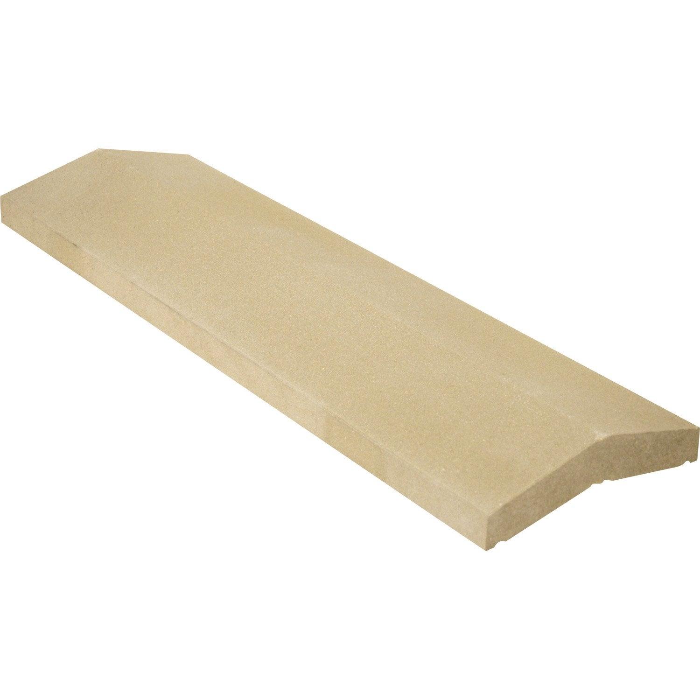 Couvre Mur 2 Pans Classique Lisse Beige H 4 X L 25 X P 99 Cm