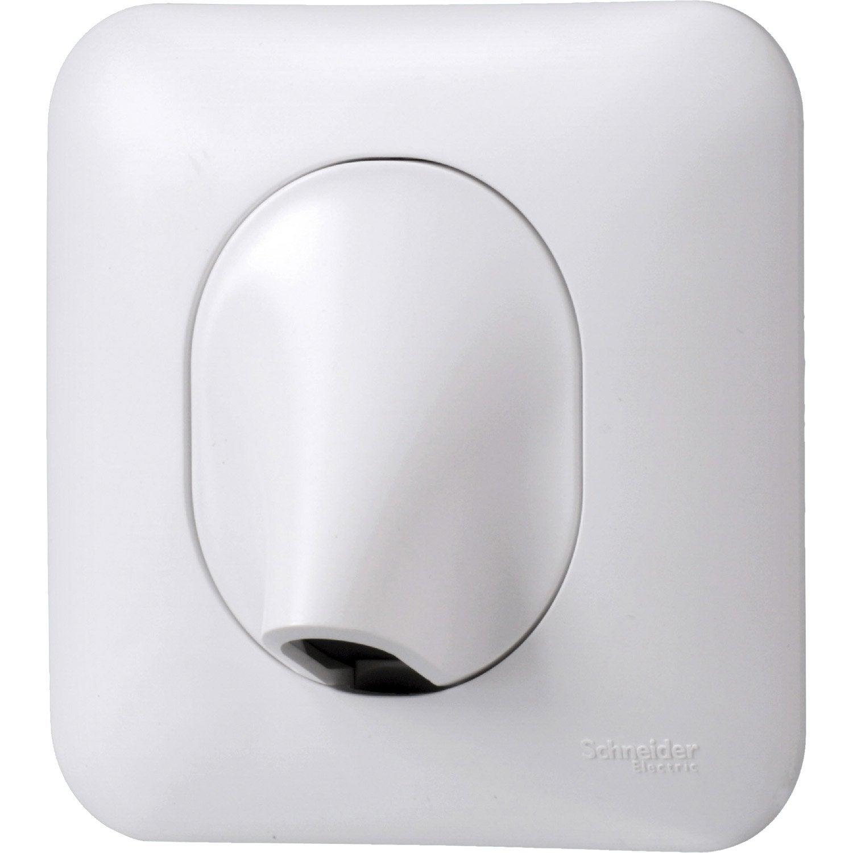 sortie de c ble ovalis blanc schneider electric leroy merlin. Black Bedroom Furniture Sets. Home Design Ideas