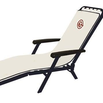 Hamac transat et bain de soleil salon de jardin table for Transat bain de soleil blanc