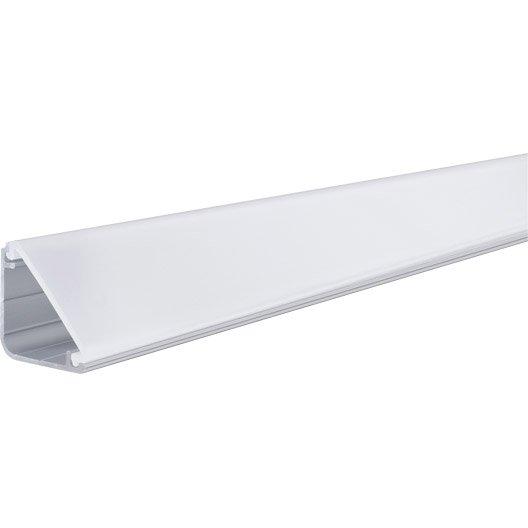baguette de finition pour ruban led fixer delta profil paulmann 1 chrome leroy merlin. Black Bedroom Furniture Sets. Home Design Ideas