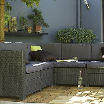 salon bas de jardin canap et fauteuil bas salon de jardin table et chaise leroy merlin. Black Bedroom Furniture Sets. Home Design Ideas