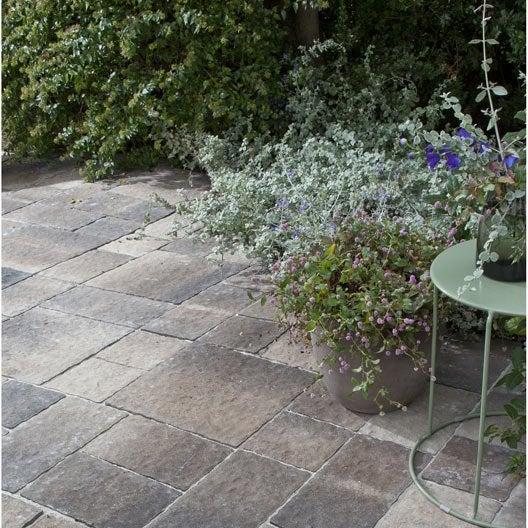 Pav pour terrasse et jardin dalle et pav ext rieur b ton pierre naturel - Dalle 40x40 leroy merlin ...