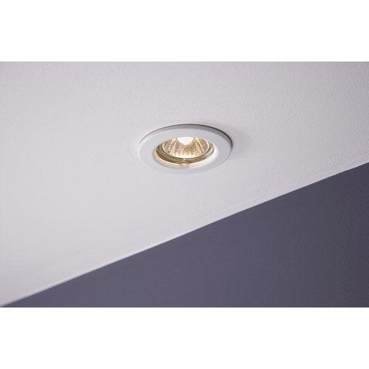 anneau pour spot encastrer fixe sans ampoule blanc leroy merlin. Black Bedroom Furniture Sets. Home Design Ideas