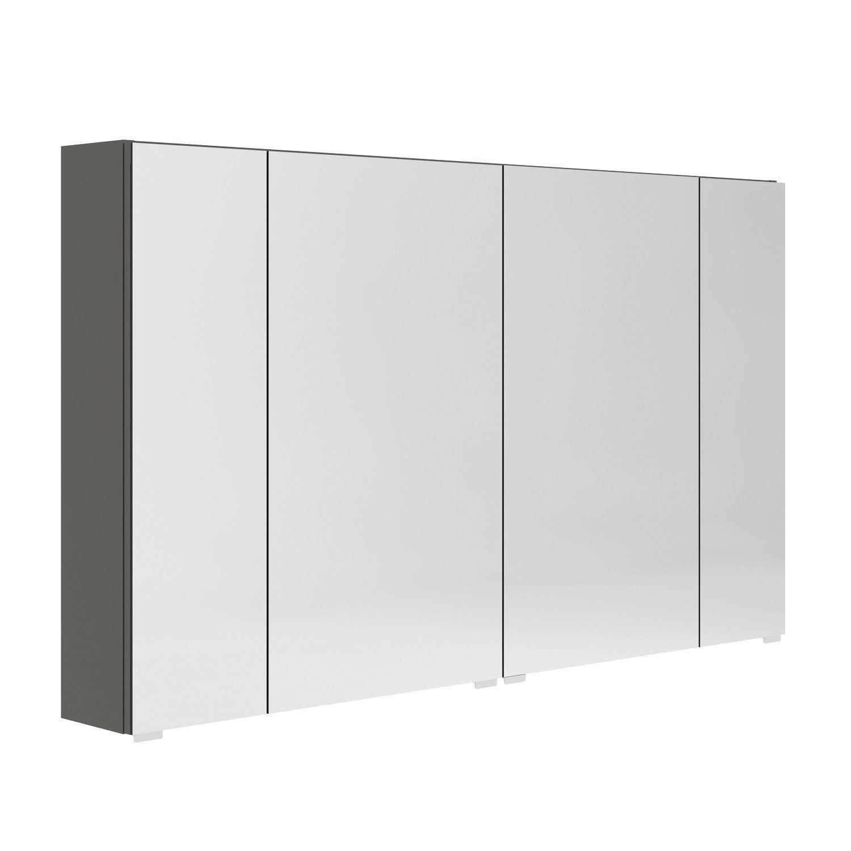 Hauteur Armoire De Toilette armoire de toilette l. 120 cm, gris opale