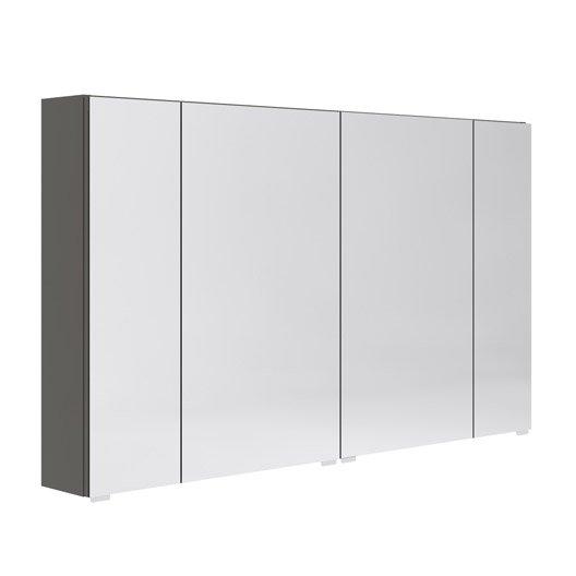 armoire de toilette l 120 cm gris opale leroy merlin. Black Bedroom Furniture Sets. Home Design Ideas