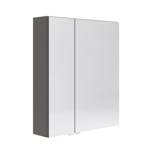 armoire de toilette l 60 cm gris opale leroy merlin. Black Bedroom Furniture Sets. Home Design Ideas
