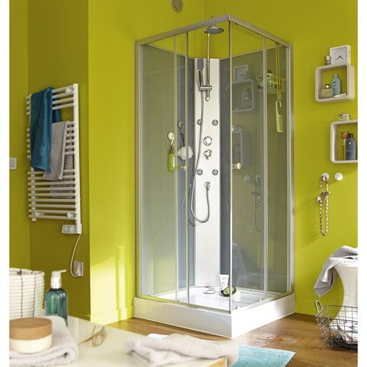 cabine de douche carr x cm kali leroy merlin. Black Bedroom Furniture Sets. Home Design Ideas