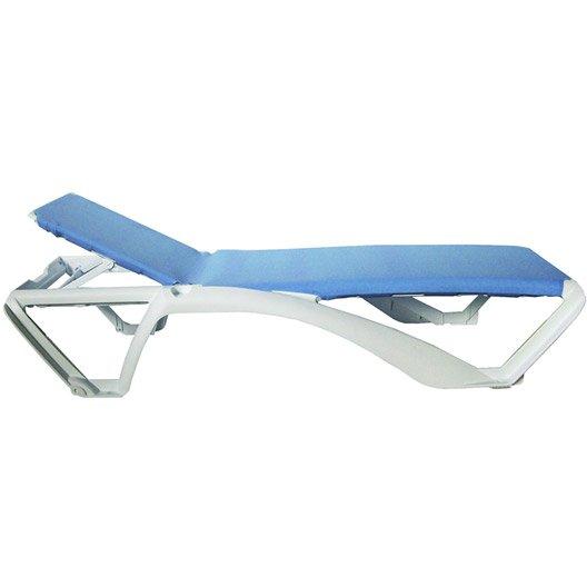 Bain de soleil transat hamac chaise longue leroy merlin for Piscine en solde