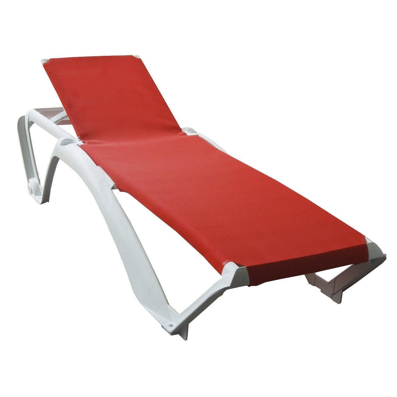 bain de soleil de jardin en r sine inject e acqua rouge. Black Bedroom Furniture Sets. Home Design Ideas
