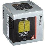 852 pointes inox A2 2.3x35 mm