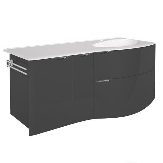 meuble vasque 130 cm elegance leroy merlin. Black Bedroom Furniture Sets. Home Design Ideas