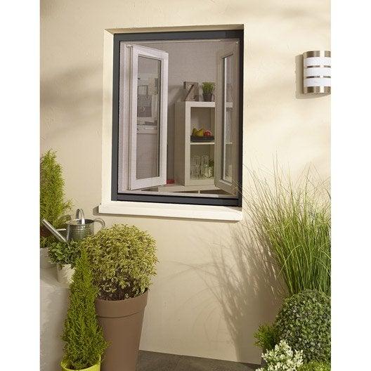 moustiquaire pour fen tre enroulement vertical x cm leroy merlin. Black Bedroom Furniture Sets. Home Design Ideas