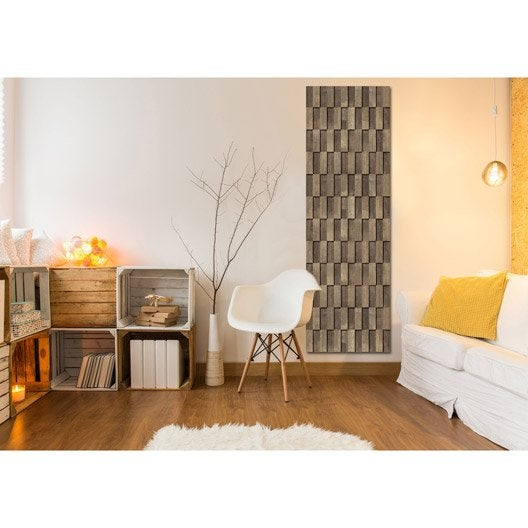 radiateur lectrique rayonnement decowatt damier bois. Black Bedroom Furniture Sets. Home Design Ideas