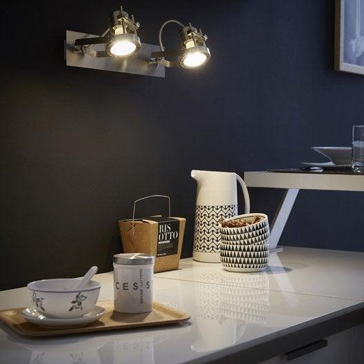 rampe 2 spots industriel technic 2 xgu10 acier inspire leroy merlin. Black Bedroom Furniture Sets. Home Design Ideas