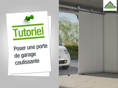 Poser une porte de garage leroy merlin for Motoriser une porte de garage