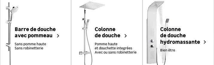 barre et colonne de douche salle de bains leroy merlin. Black Bedroom Furniture Sets. Home Design Ideas