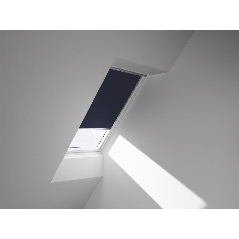 Store fenêtre de toit occultant bleu VELUX Dkl c04   Leroy Merlin