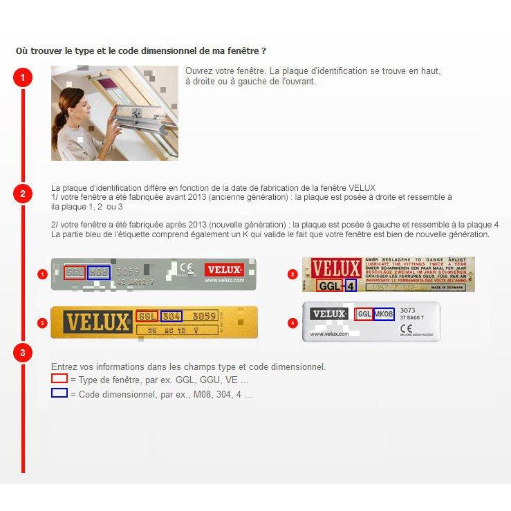 Store Velux Occultant Manuel Bleu Foncé Dkl C04