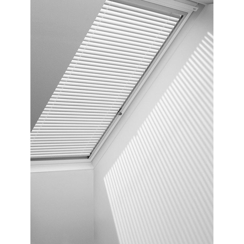 Store fenêtre de toit vénitien manuel blanc VELUX Pal u04 | Leroy Merlin