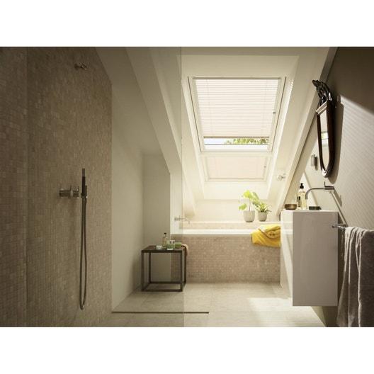 store fen tre de toit v nitien manuel blanc velux pal c04 leroy merlin. Black Bedroom Furniture Sets. Home Design Ideas