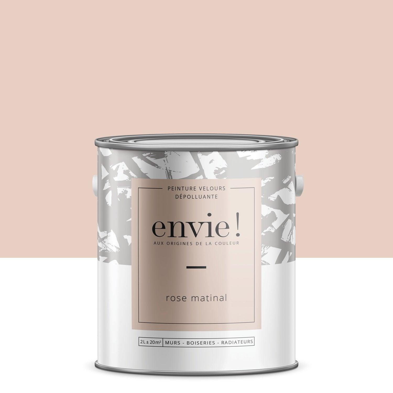 Peinture dépolluante multisupport ENVIE rose matinal velours 2 l