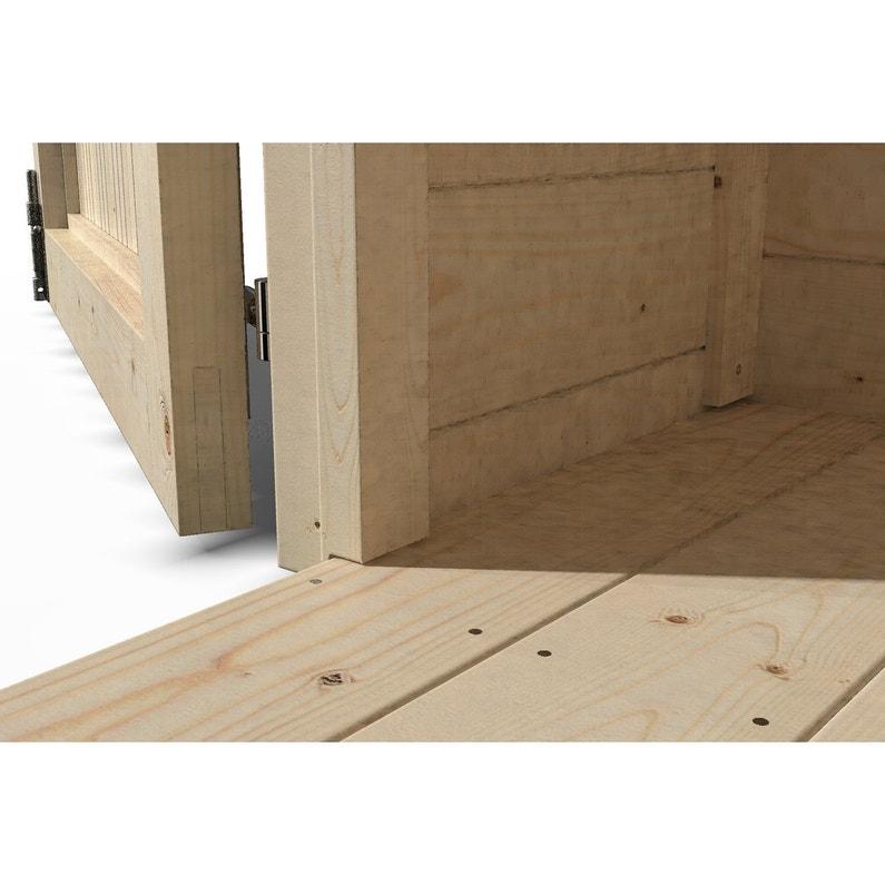 Plancher En Bois Naterial Pour Abri 6m Classique L 242 X H 45 X P