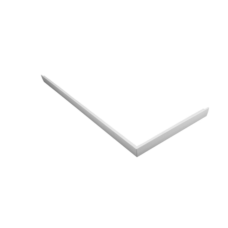 tablier pour receveur x cm acrylique blanc mila leroy merlin. Black Bedroom Furniture Sets. Home Design Ideas