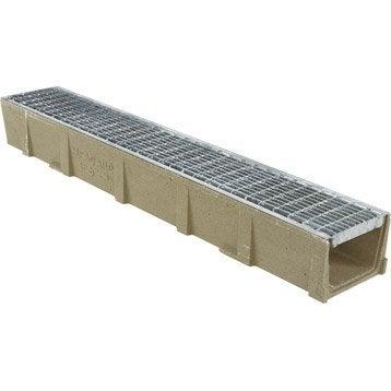 caniveau en r sine de polyester grille caillebotis long 1 m. Black Bedroom Furniture Sets. Home Design Ideas