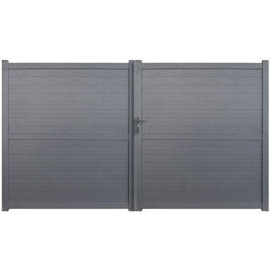 Portail battant en aluminium detroit x cm leroy merlin - Portail battant aluminium leroy merlin ...