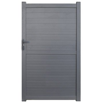 Portillon battant en aluminium gris anthracite detroit for Portillon alu gris anthracite