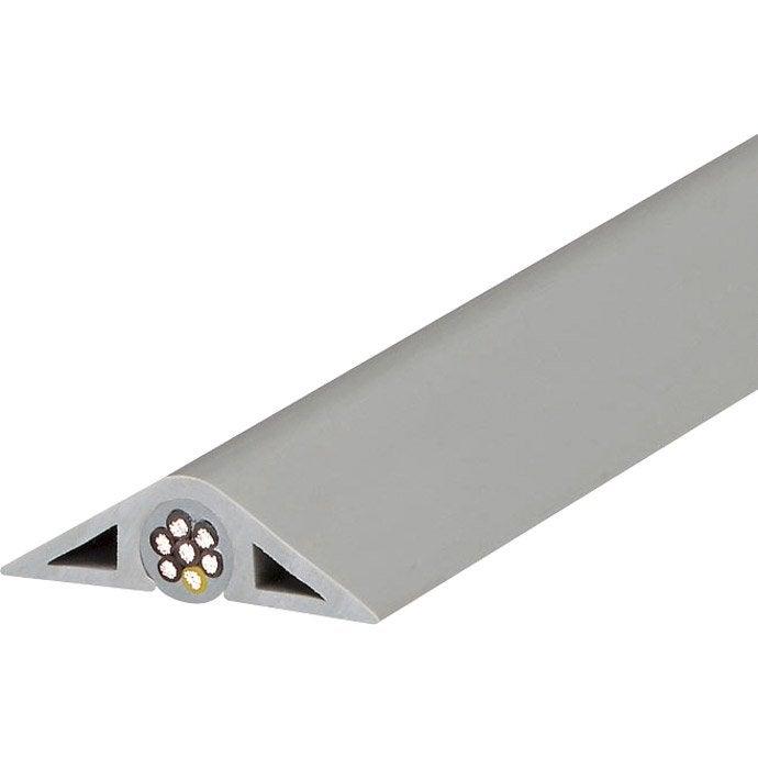 Passage de plancher gris pour moulure h 1 1 x p 4 1 cm leroy merlin - Baguette pour cable electrique ...