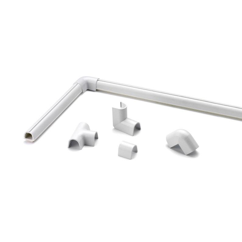 Cache Câble Blanc Pour Moulure H08 X P100 Cm