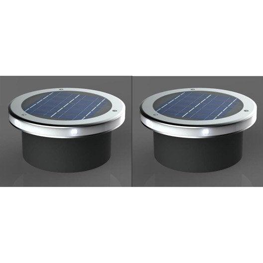 Lot de 2 spots encastrer solaire so544 2 30 lm gris xanlite leroy merlin - Canvas pvc witte leroy merlin ...