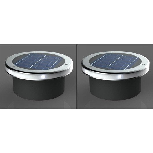 Lot de 2 spots encastrer solaire so544 2 30 lm gris for Eclairage exterieur solaire professionnel