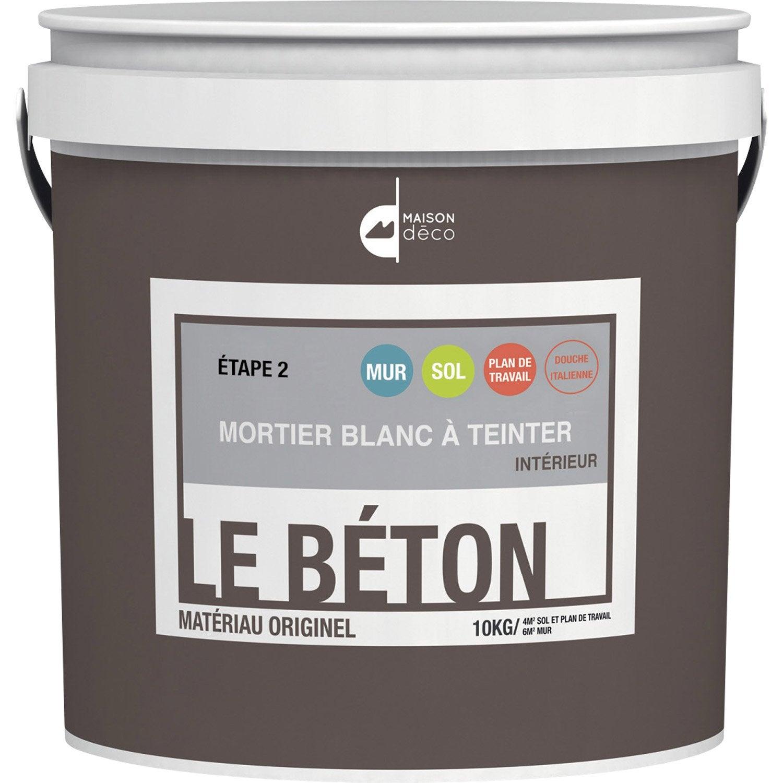 Peinture Effet Mortier Le B Ton Maison Deco Blanc 10 Kg Leroy