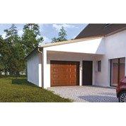 Porte de garage sectionnelle EXCELLENCE, acier décor chêne à cassette, 200x240cm