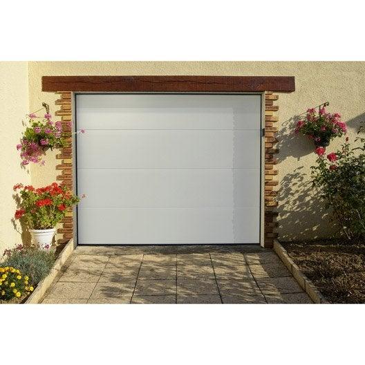 Porte de garage porte de garage et accessoires leroy - Prix porte de garage sectionnelle motorisee 4m ...