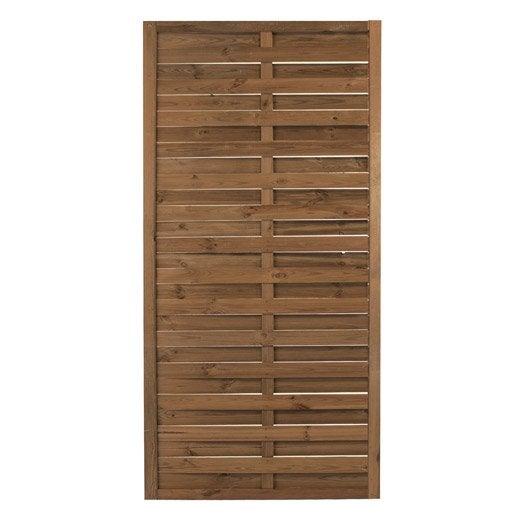 Panneau en bois marron droit plein NATERIAL, L 90 x H 180