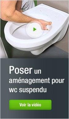 Meuble coffrage et rangement wc meuble toilette leroy merlin - Amenagement wc suspendu ...