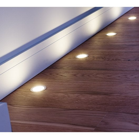 Kit 3 spots encastrer parquet fixe led led int gr e - Kit renovation escalier leroy merlin ...