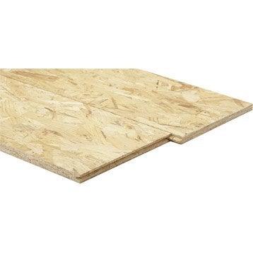 Dalle de plancher osb 3 3 plis épicéa naturel, Ep.22 mm x L.250 x l.67.5 cm